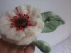Felt silk fibre wool broochfelt flower by FashionFeltProducts