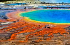 30+ Unbelievable Places That Look Like They're From Another Planet. Grand Prismatic Spring, Wyoming, Usa