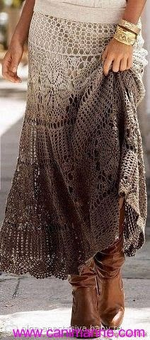 Maxi crochet skirt PATTERN (sizes crochet TUTORIAL in English (written + charted) designer crochet skirt pattern, boho crochet skirt - Crochet maxi skirt Más Source by rabebeck - Crochet Skirts, Crochet Clothes, Knitted Skirt, Crochet Skirt Pattern, Crochet Patterns, Knitting Patterns, Crochet Jumper, Doily Patterns, Bohemian Mode