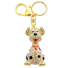 My favorite animal in world! Crystal Laughing Dog keyring charm by Butler & Wilson.