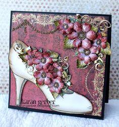 All Glammed Up Shoe card (Heartfelt Creations) by Karan Gerber
