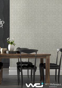 Leading wallpaper supplier & installer in Southern Africa, offering expert advice for small to large scale wall coverings commercial & residential projects. Wallpaper Suppliers, Dining Room Wallpaper, Bespoke Design, Wallpaper Ideas, Ranges, Dining Bench, Africa, Furniture, Home Decor