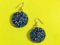 Etsy - Shop for handmade, vintage, custom, and unique gifts for everyone Shrink Art, Shrink Film, Bijoux Diy, How To Make Earrings, Clays, Drop Earrings, Etsy, Christmas Ornaments, Holiday Decor