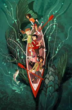 """Cover for the comic """"Lumberjanes"""" by Kali Ciesemier"""