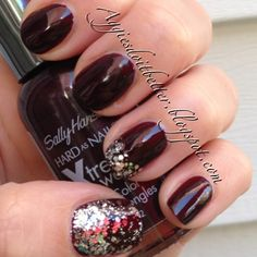 2013 Aggie Football weekend nails. Sally hanson xtreme wear in Flirt with some essie set in stones