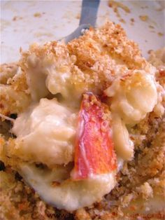 Lobster Mac and Cheese ~ Two of my favorite food items - TOGETHER. Forget about food combinations on this one. YUMMY!