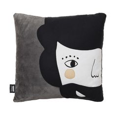 """Square cushion with Sebastián design. The collection Back to Nest is designed in warm and soft fabrics. What makes this collection unique is that their fabrics were recovered from old footwear factories. Mix it with other cushions of this collection.  Cover: Pile fabric and polar fleece cover Size: 40x40 cm (15.6x15.6"""") Filling: Polyester Unremovable cover Grey back Designed and crafted in Spain with care by Paparajote Factory."""
