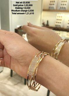 Bridesmaid Bracelet Gift, Gold Jewelry Simple, Simple Necklace, Ladies Bangles, Jewelry Design Earrings, Beaded Jewelry, Gold Bangles Design, Amrapali Jewellery, Diamond Jewellery
