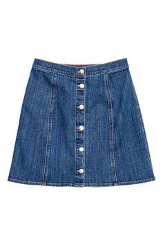 Gonna svasata in jeans   H&M