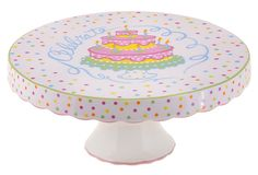 This is a great cake platter to serve up birthday cakes, and at a sale price of $19, it's a steal!!
