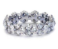Wedding Band - Garland Diamond Eternity Ring 2.52 carat