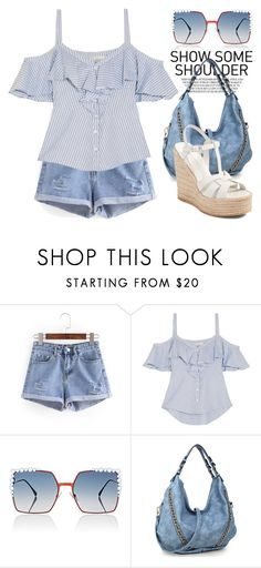 """""""Blue 4041"""" by boxthoughts ❤ liked on Polyvore featuring Veronica Beard, Fendi and Yves Saint Laurent"""