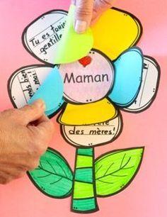 I love you mom! (Nursery rhyme and activities Mother's Day French Mother's Day) Mothers Day Crafts For Kids, Fathers Day Crafts, Happy Mothers Day, Mother Day Gifts, Cadeau Parents, Mother's Day Activities, Ideas Hogar, I Love You Mom, French Lessons
