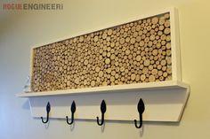 DIY Tree Branch Coat Rack