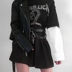 grunge outfits on . Hipster Outfits, Emo Outfits, Gothic Outfits, Korean Outfits, Girl Outfits, Casual Outfits, Fashion Outfits, Fashion Clothes, Cute Grunge Outfits