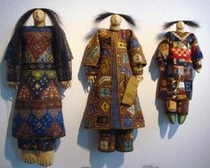 Art dolls by Charla Khanna. I love Charla's work. Pure eye candy--can't stop looking at the textures and colors.