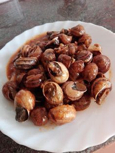 Snails Recipe, Entrees, Almond, Stuffed Mushrooms, Meat, Vegetables, Cooking, Recipes, Food