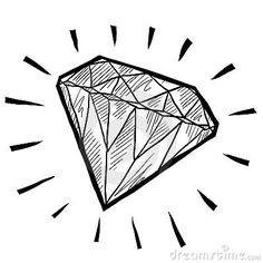 De Schets Van De Diamant Royalty-vrije Stock Foto - Beeld: 22499905