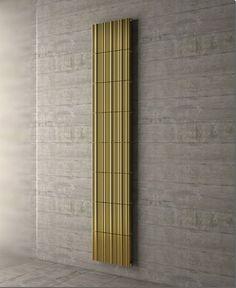 ideen für modernes heizungskörper design bambus gold