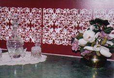 Plaster Stencil Belinda Panel | Walls Stencils, Plaster Stencils, Painting Stencils, Plaster Molds