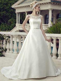 Elegante prinsessen trouwjurk met bewerkt lijfje op maat