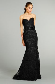 Jim Hjelm black evening gown, Fall 2012