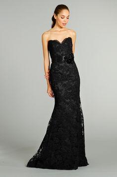 Jim Hjelm black evening gown, Fall 2012