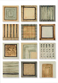 'Field' Series of 12 ceramic wall panels by Clare Crouchman