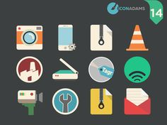 26 Icons for Applicatios Flat Icons, Behance, App, Flats, Gallery, Free, Loafers & Slip Ons, Roof Rack, Apps