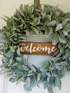 Lambs Ear Wreath Greenary Wreath Outdoor Wreath Farmhouse Wreath Indoor Wreath Country cottage Front Door Decor Welcome Wreath Cottage Front Doors, Front Door Decor, Wreaths For Front Door, Front Porch, Mesh Wreaths, Yarn Wreaths, Floral Wreaths, Indoor Wreath, Outdoor Wreaths
