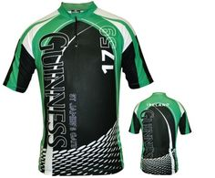 GUINNESS CYCLING JERSEY  White, green & Black, Sublimated Graphics, rear pocket & Zip Detail (http://www.mullysirishimports.com/guinness-cycling-jersey/)