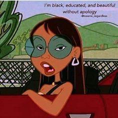 Ideas for black history cartoon life Black Girl Cartoon, Black Girl Art, Black Women Art, Black Girls Rock, Black Art, Black Girl Memes, Black Girl Quotes, Cartoon Icons, Cartoon Art