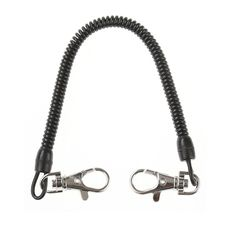 Fishing Lanyards Boating Ropes Black Kayak Camping Secure Pliers Grip Tackle Practical Tether Cord Freshwater extends over 110cm
