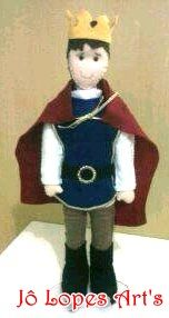 Rei Arthur em Feltro enfeite de mesa de festa