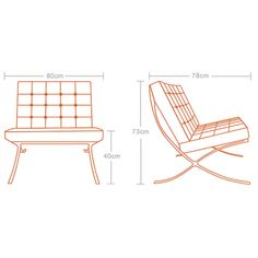 Mies Van Der Rohe Barcelona Chair   Brown