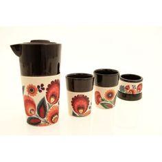 beautiful tea set with the Polish folk ornament... :)