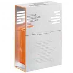 Lampe Techno. Un vrai parti-pris design pour cette lampe ultra-moderne au look franchement techno. La lampe Techno est un modèle composé de verre laqué, secrètement cachée au coeur d'un habillage métallique. Orné de motifs gravés, l'habillage est rehaussé d'un liseré orange sur les côtés, rappelant la couleur du laquage fluo de la lampe.