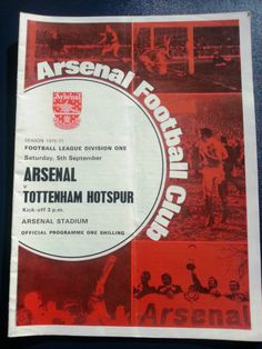 Arsenal v Tottenham Hotspur (Spurs) Football Programme 05/09/1970 Listing in the First Division Fixtures,1970-1979,League Fixtures,English Leagues,Football (Soccer),Sports Programmes,Sport Memorabilia & Cards Category on eBid United Kingdom