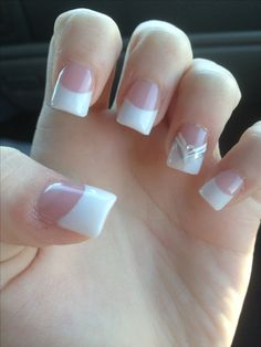 My French Manicure #nails #acrylic #design