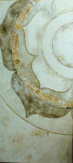 Acrylmalerei - White Lotus Mandala - ein Designerstück von Kunst-rundum-Yoga bei DaWanda