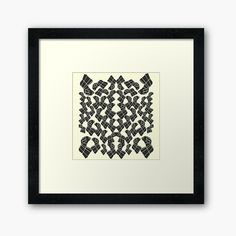 Framed Art Print Canvas, Home Decor, Interior Design - Abstract Geometric Black and White Pattern Print, RedBubble Print on Demand Pattern Print, Print Patterns, Framed Art Prints, Canvas Prints, White Patterns, Black And White, Interior Design, Abstract, Home Decor