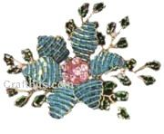 Free pattern for this pretty beaded flower