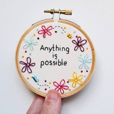 Indeed it is true!  embroidery. Embroidery Hoop Crafts, Creative Embroidery, Embroidery Art, Cross Stitch Embroidery, Embroidery Patterns, String Crafts, String Art, Crafty Hobbies, Cross Stitch Boards