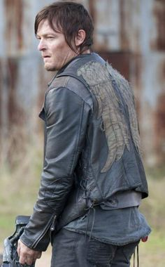 The Walking Dead Norman Reedus Daryl Dixon Angel Wings Leather Vest