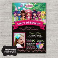 Strawberry Shortcake Birthday invite,ShoppingStrawberry Shortcake invite,JPG file,Invite,Birthday Invite,Strawberry Shortcake,DPP85