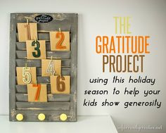 DIY Thanksgiving Gratitude Project | Teaching your Kids to Give to Others