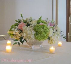 only with the white gladiolas and stargazer lilies instead of white and pink roses and white hydrangeas