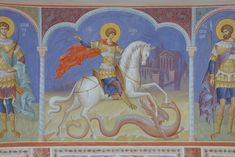 VK is the largest European social network with more than 100 million active users. Byzantine Icons, Orthodox Icons, Fresco, Saints, Painting, Military, Model, Photos, Byzantine
