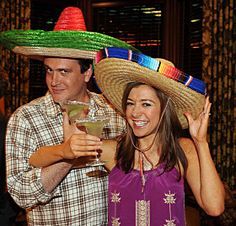 Marshall and Lily with the sombreros