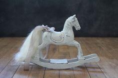 A Vintage Wooden Dolls Rocking Horse by FlorenceAndTaylor on Etsy